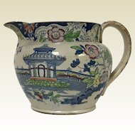 Circa 1800 Early English Pearl Ware Creamer With Asian decoration