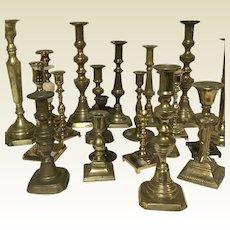 Ardesh Found Antique Brass Candlestick Candle Holder 19th Century