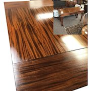 Fine Mahogany Chinese Chippendale Style Adjustable Dinning Sofa Table
