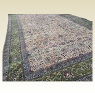 Palace Size Semi Antique Persian Kerman All Over Design Bright Colors 23' x 14'