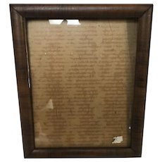 Small Antique 19th Century Ogee Mahogany Frame