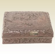 19th C Chinese Carved Cinnabar Box