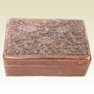Small Chinese Carved Cinnabar Box
