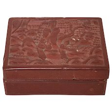 Vintage Chinese Cinnabar Carved Box