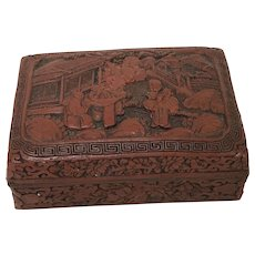 531251ba8c2 19th Century Chinese Cinnabar Carved Box