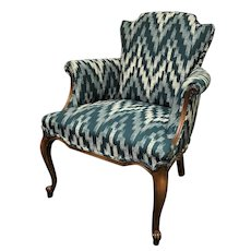 Vintage Louis XV French Bergere Armchair