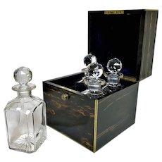 Antique Thornhill London Coromandel Decanter Box