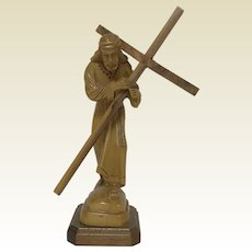 Hand Made in the Holy Carved Wooden Figure of Christ Land Nazareth Tera Santa