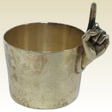 Scarce Napier Silverplate One-finger, One Ounce Jigger