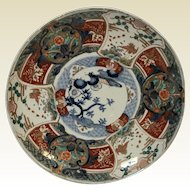Antique Decorative Japanese Porcelain Imari Charger Round Serving Platter #2