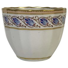 Antique Circa 1810 Royal Crown Derby Cup Bowl W/ Gold Pink Rim