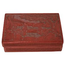 Chinese Red Lacquered Cinnabar Box