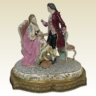 Large English Staffordshire Figurine of Couple Charming