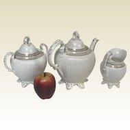 Elegant 19th Century English 3 Piece Tea Set