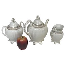Elegant 19th Century English 3 Piece Tea Set