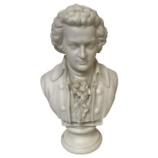 19th Century Parian Ware Bust of Mozart