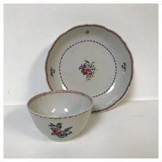 18th Century Chinese Export Porcelain Tea cup & Saucer