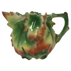 Royal Bayreuth Maple Leaf Syrup Creamer Pitcher