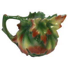 Royal Bayreuth Maple Leaf Syrup Creamer Pitcher