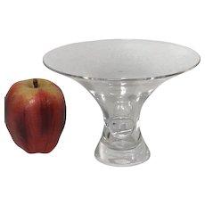 Signed Steuben Art Glass Bouquet Crystal Glass Bowl