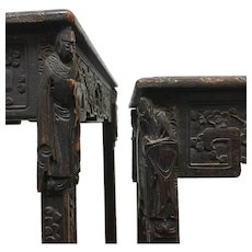 Antique Carved Chinese Nesting Tables