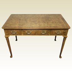 Small 3 Drawer Baker Furniture Queen Anne Style Writing Desk
