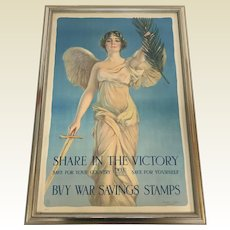 Original U.s. World War I Poster Share in the Victory by Haskell Coffin, C. 1917
