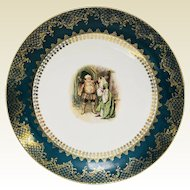Antique Shakespeare Large Charger Plate Royal Vienna Style 13.5""