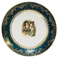 """Antique Shakespeare Large Charger Plate Royal Vienna Style 13.5"""""""