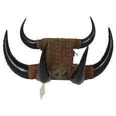 Antique Western Décor Animal Horn Coat and Hat Rack Wall Mount