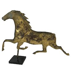 Antique American Running Horse Copper Weathervanes