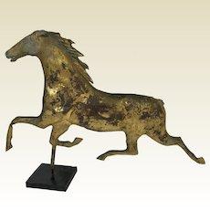 Antique American Running Horse Copper Weathervanes