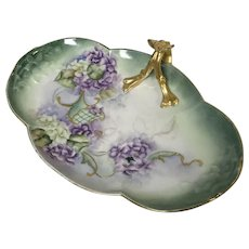Beautiful Hand Painted Limoges Porcelain Tray Center Serving Bowl