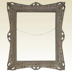 "Antique Gilded White Wash Antique Gilded Carved Gessoed Frame for a 20"" by 16"" Art"