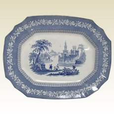 Antique 19th Century English Staffordshire Blue Transferware Platter