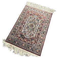 Fine Vintage Persian Silk Rug 2' x 3'