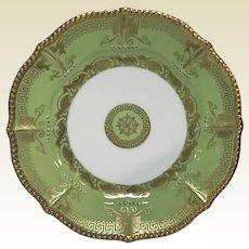 Set of 11 Elite Limoges Greek Key Gold Star Decorated Plates W/ Apple