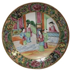 19th Century Rose Mandarin Chinese Porcelain Plate