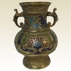 Vintage Chinese Champleve Vase
