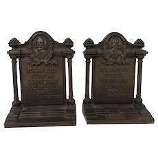 Heavy Cast Iron Shakespeare Quotation Bookends Bradley Hubbard