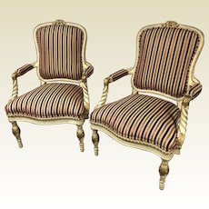 Oscar de la Renta for Century Furniture Rope Arm Chair Velvet Stripe Fabric
