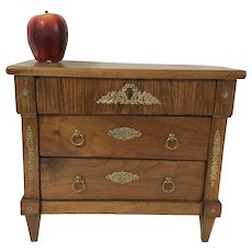 Antique Miniature French 3 Drawer Chest