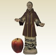 Religues 19th C Carved Wooden Polychromed Statue