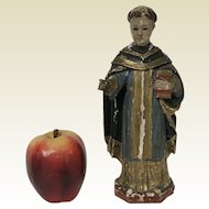 Religious 18th C Italian Carved Wooden Polychromed Statue