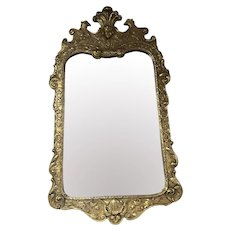 French Louis XIV Style Figural Eagle Puti Giltwood Henredon Natchez Collection Mirror