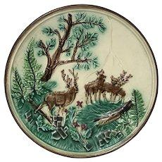 Antique Majolica Plate majolica buck plate