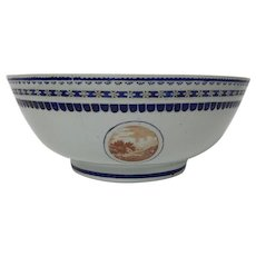 Large 18th Century Chinese Porcelain Export Bowl