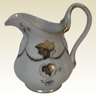 Antique 19th Century Popov Moscow Russian Porcelain Manufacturer Creamer Pitcher