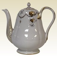 Antique 19th Century Popov Moscow Russian Porcelain Manufacturer Coffee Tea Pot