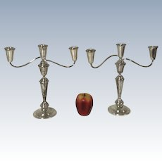 3 Tier Weighted Sterling Candelabra